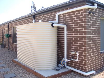 Water Tank with Backflow Prevention Device at Home