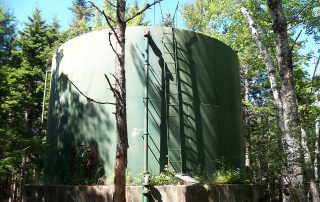 large green water tank